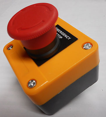 Emergency Stop Station Twist Reset Button Danger Yellow Ce Approved Xal-J174