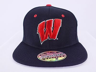 Wisconsin Badgers Ncaa Flex/fitted Hat Size New Cap By Zephyr (D80)