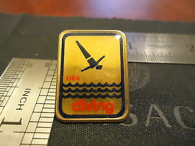 Vintage Authentic Usa Olympic Diving Pin Summer Olympics. Go Usa Rio Swim Team