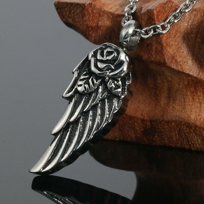 VALYRIA Angelic Wing Cremation Jewelry Keepsake Pendant Memorial Urn Necklace