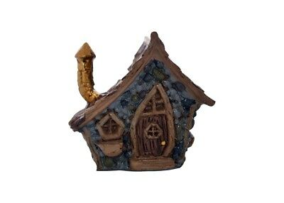 "2"" My Fairy Gardens Tiny Shingletown Crooked Gnome House - Micro Mini Figurine"