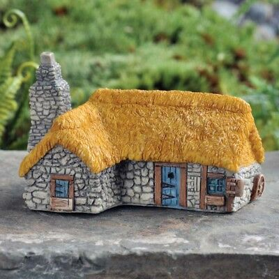 """1.75"""" My Fairy Gardens Tiny Thatched Roof Country House - Micro Mini Figurine"""