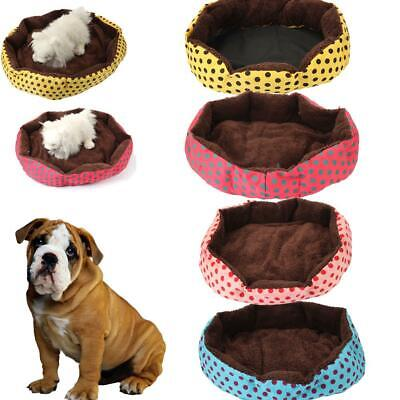 Small Large Pet Dog Puppy Cat Octagonal Flannelette Wave Point Warm Beds