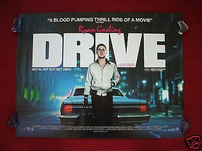 Drive * 2011 Original British Quad Movie Poster Ryan Gosling Carey Mulligan D/s
