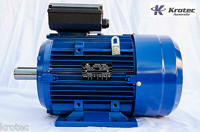 Electric motor single phase 240v 5.5kw 7hp 2900 rpm
