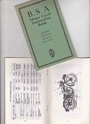1934 BSA 1.49 OHV, 2.49 SV and OHV  Reprint Instruction Manual