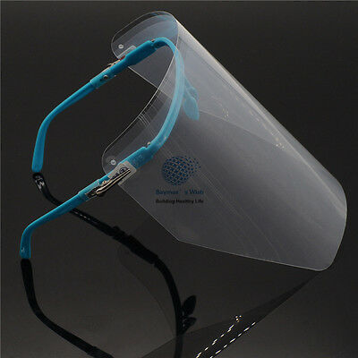1 Set Adjustable Full Face Shield with CLEAR Detachable Visor Wear on Eyes