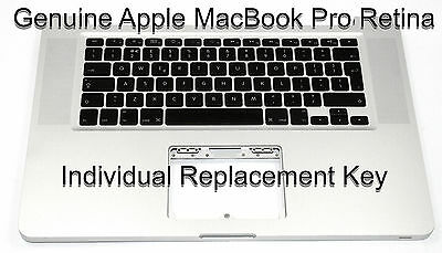 "Genuine Apple MacBook Pro Retina 13"" 15"" Individual Replacement Keys Buttons"