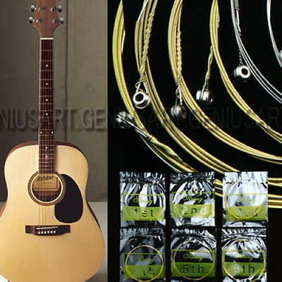 [NEW] Set of 6 Steel Strings for Acoustic Guitar 150XL 1M