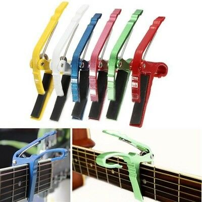 [NEW] Electric or Acoustic Guitar Capo Quick Change Trigger Key Clamp