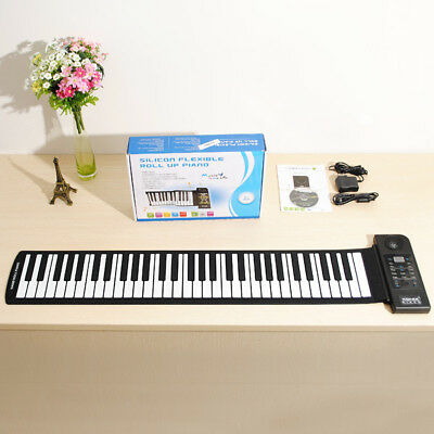 [NEW] KONIX Silicon Flexible 61 Keys Electric Roll Up Piano PU61S