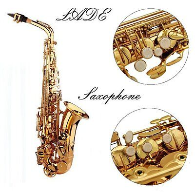 [NEW] LADE Alto Eb Golden Saxophone Sax Paint Gold With Case & Accessories