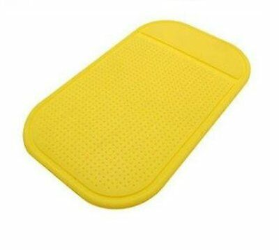 Yellow Car Dashboard Dash Anti Slip Grip Magic Sticky Mat Phone iPhone Keys NEW