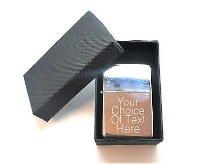 Engraved Personalised Chrome Star Lighter Ideal Birthday Present + Gift Box