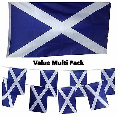 Scotland Scottish Saltire Flag & Bunting Value Pack Country