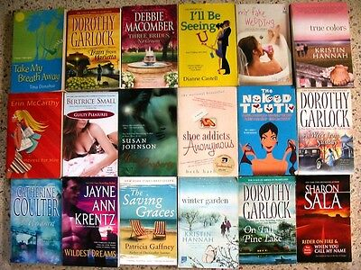 Lot Of 19 Assorted Romance  Books No Doubles Free Shipping