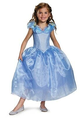 Cinderella Movie Deluxe Child Costume HALLOWEEN Girls, Disguise, Blue