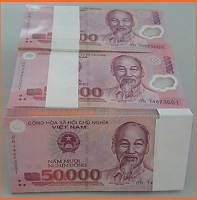 1 x 50,000 Vietnam Currency Banknotes,  Notes Dong Money, UNCIRCULATED
