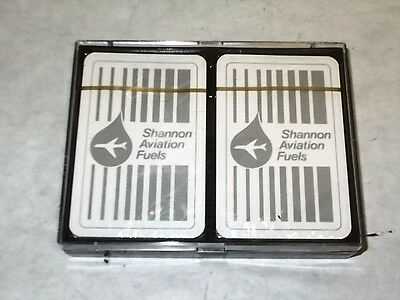2 Shannon Aviation Fuels Decks of Playing Cards Sealed Made In Belgium - Estate