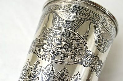 Antique Ottoman Period Silver Cup Military Turkish Sultan Tughra Armenian Maker