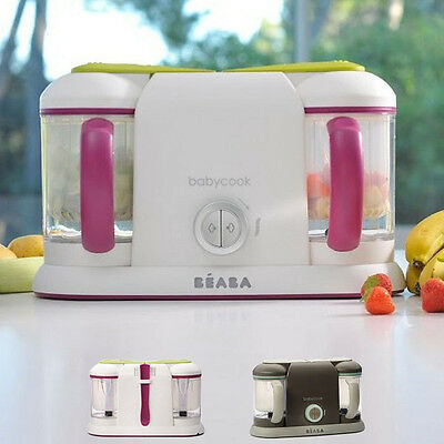 NEW Beaba Babycook Duo Baby Food Processor Steam Cook Blend Defrost Healthy Meal