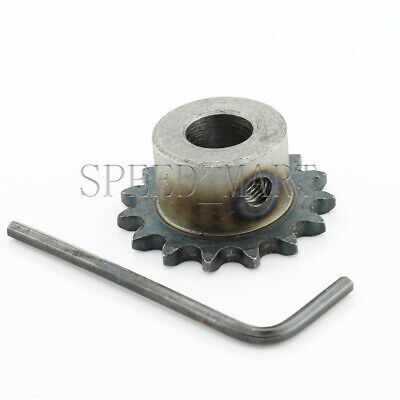 8mm Bore 15 Teeth 15T Metal Pilot Motor Gear Roller Chain Drive Sprocket