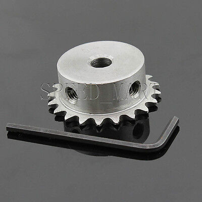 8mm Bore 20 Teeth 20T Metal Pilot Motor Gear Roller Chain Drive Sprocket