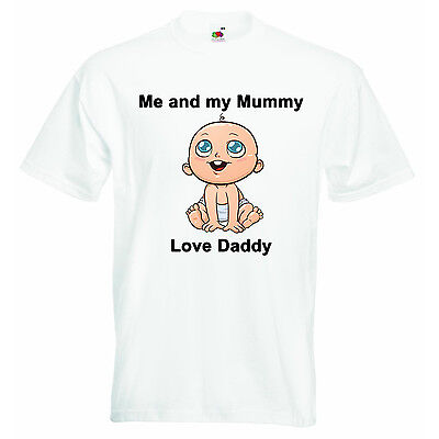 Me And My Mummy Love Daddy Personalized Baby Boys Girls T-shirt Clothing