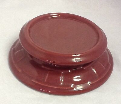Longaberger Pottery Large Candle Holder Stand Paprika