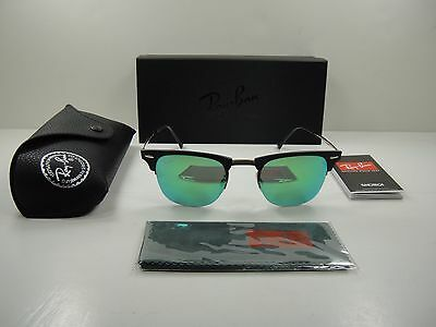 0555fff6352 Ray-Ban Clubmaster Light Ray Sunglasses Rb8056 176 3R Green Miror Lens 49Mm