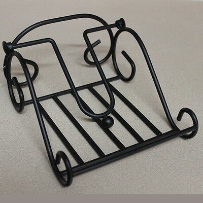 Napkin Serviette Holder, Scroll Design, Metal, Black, Kitchen, Picnic, Party New
