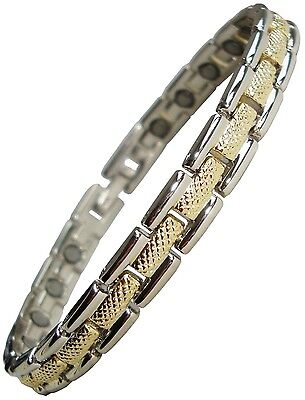 Womens or Mens Magnetic Therapy Bracelet Ladies Pain Relief Bangle - New MJ-4007