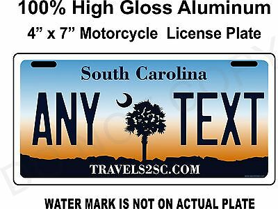 South Carolina License Plate, PERSONALIZED, Novelty, custom MOTORCYCLE, tag 4x7