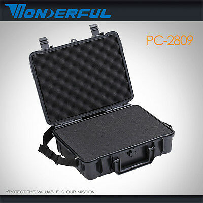 Storage Carry Case for Sensitive Equipment & Sample Waterproof Shockproof w Foam