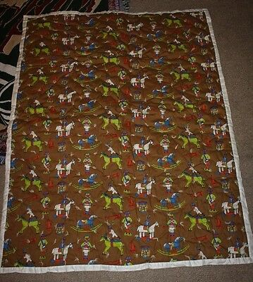 Handmade Boys Quilt Vintage Toy Soldiers Drums Horses 44x57