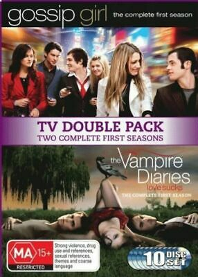 Gossip Girl Season 1 / Vampire Diaries : Season 1 (DVD, 2010, 10-Disc Set) R4