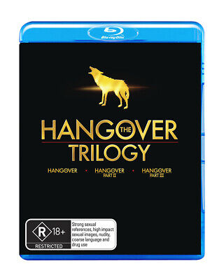 The Hangover Trilogy 1 + 2 + 3 (Blu-ray, 2013, 3-Disc Set) Region B
