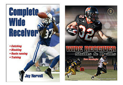 Football Instructional Book and DVD - Wide Receiver - Free Shipping