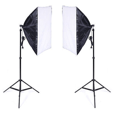 Softbox studio photo kit 40*60cm E27 Kit éclairage + 2 Trépied 2 pcs NEUF