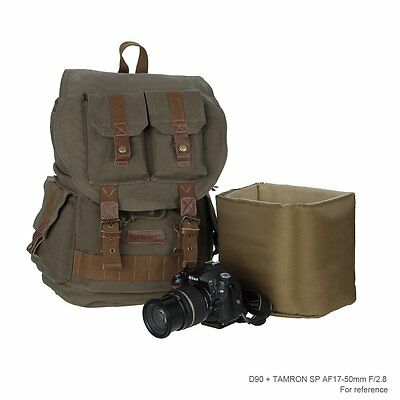 Vintage Backpack Large Outdoor Canvas DSLR Camera Bag Backpack Waterproof Bag