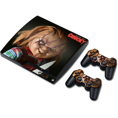 Skin Sticker Vinyl Decal Cover For PS3 PlayStation 3 Slim+2 Controllers TNS151