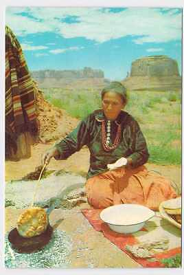 Vintage Postcard North American Native American Cooks In Skilet On Outdoor Fire