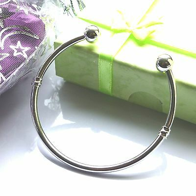 silver bangle boys girls ladies mens sizes 13cm 15cm 17cm 20cm babies childrens