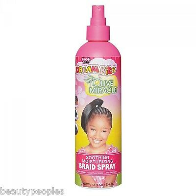 African Pride Kids olive miracle soothing moisturizing braid spray