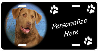 Chesapeake Bay Retriever   Personalized license plate