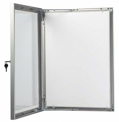 A1A2A3A4 Outdoor Lockable Display Case Box Poster Menu Holder Notice Board
