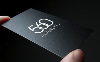 Custom 2500 Silk Laminate Premium Business Cards 16PT, Full Color 2 Sided Canada