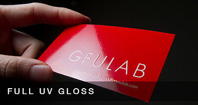Custom 250 UV (Glossy) Business Cards Printing 14PT Full Color 2 sided