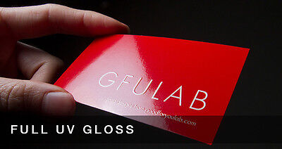 Custom 2500 UV (Glossy) Business Cards Printing 14PT Full Color 2 sided