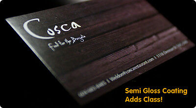Custom 500 Aqueous (Semi Gloss Classy) Business Cards 14PT Full Color 2 sided